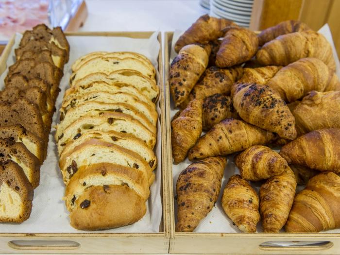 I cornetti, il plumcake ed il pane alla frutta